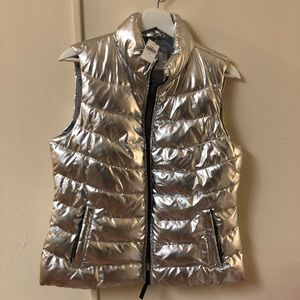 Gap Cold Control Winter Metallic Puffer Vest Down